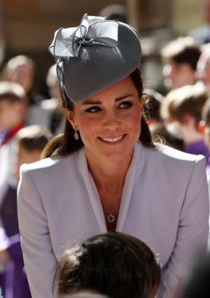The  Duchess of Cambridge after an Easter Sunday service at St Andrew's Cathedral in Sydney.