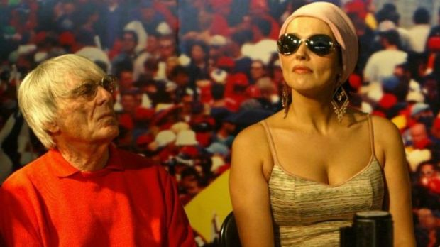 Ecclestone and his wife Slavica pictured in 2004.