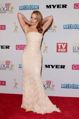 Performer and presenter ... Kylie Minogue at the 2014 Logie Awards.