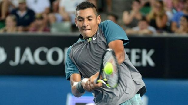 Nick Kyrgios fought back to take the Savannah Challenger final.