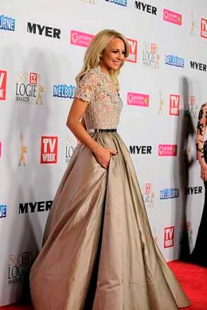 Carrie Bickmore at the Logies.