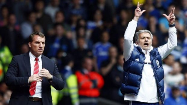 Master and apprentice: Chelsea manager Jose Mourinho and his former assistant, Liverpool boss Brendan Rodgers, did not ...