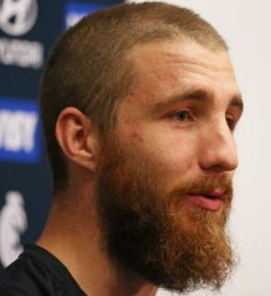 Zach Tuohy speaks to the media on Monday.