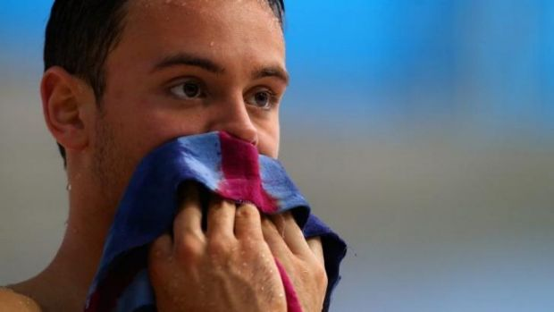 Diving fear: Olympic bronze medalist Tom Daley.