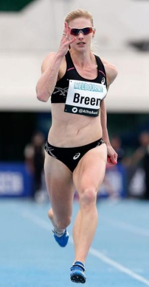 Melissa Breen has run her fastest time since breaking the Australian 100m record.