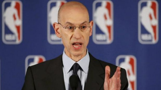 Strongest action ... NBA Commissioner Adam Silver announces the life ban and $US2.5 mllion fine on Clippers owner Donald ...