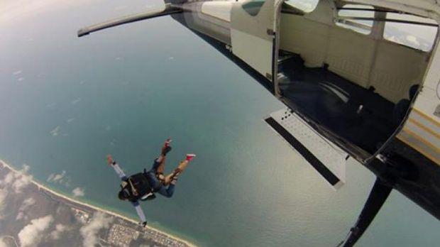 A sky diver.