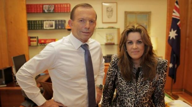 Tony Abbott with Peta Credlin.