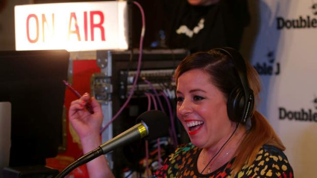 Official launch of Double J, the new name for Dig Music. Myf Warhurst hosts the first show.