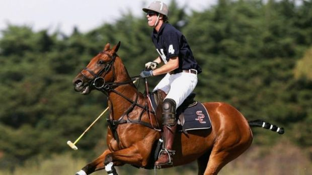 Gillon McLachlan playing polo in 2007.