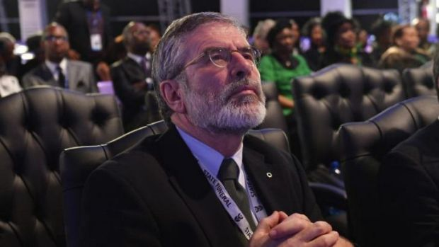Sinn Fein President Gerry Adams: questioned by police.