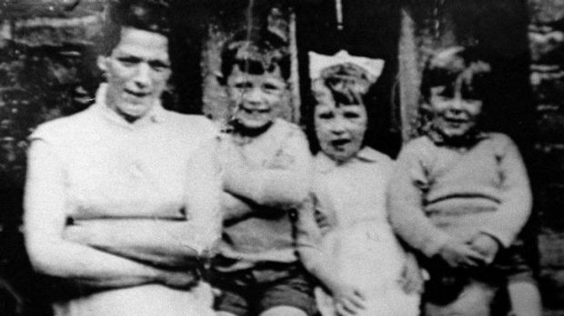 Jean McConville, left, and three of her children.