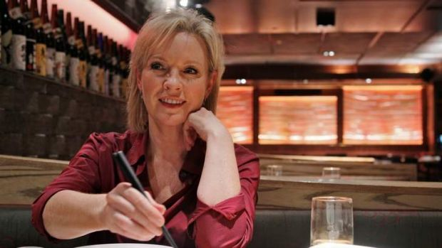 Rebecca Gibney at lunch.