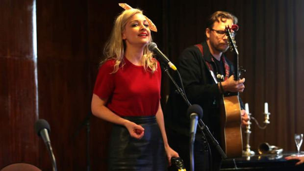 Kate Miller-Heidke performing at Double J's launch.