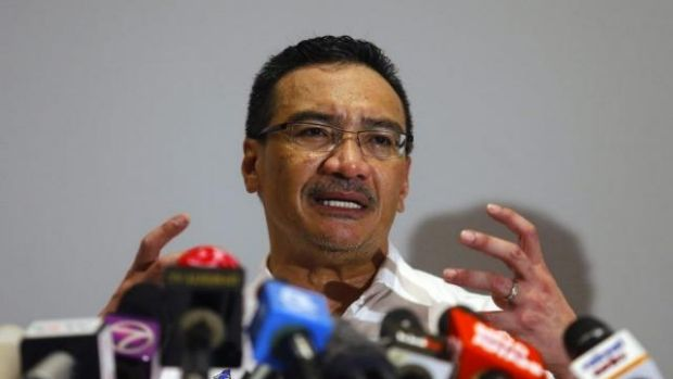 Expensive search ... Malaysia's Acting Transport Minister Hishamuddin Hussein speaks about the cost of searching for ...