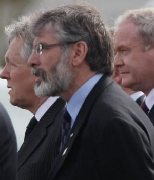 Northern Ireland authorities arrested Sinn Fein party leader Gerry Adams.