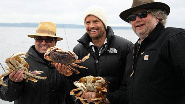 Up for a Daytime Emmy ... <i>A Moveable Feast</i>, which is hosted by Australian chef Pete Evans (centre).