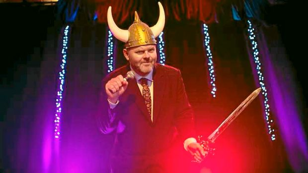 Casey Bennetto, host of long-standing Eurovision Song Contest parties at Bella Union Theatre, Trades Hall.