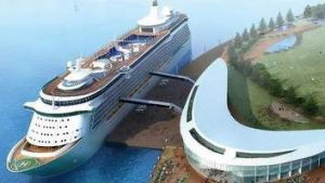 Artist's impression of proposed Gold Coast cruise terminal