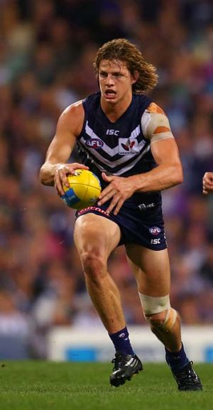 Derby man: Nat Fyfe is likely to play for Fremantle on Sunday.
