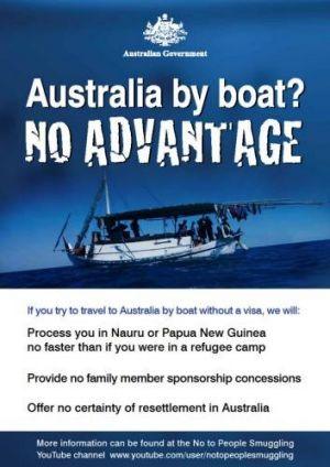 An Australian Government ad designed to deter asylum seekers from coming to Australia by boat.