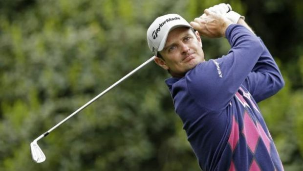 In contention: England's Justin Rose.