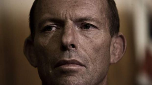 Leader of the Opposition, Tony Abbott replies to the Governments Flood Levy at a press conference in Phillip St Sydney. ...