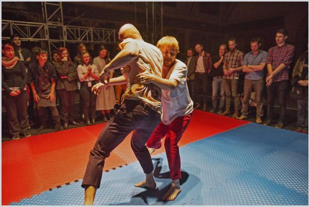 Opening night of Wave festival with Dutch Theatre Troupe  who stage a version of Fight Club with audience participation.