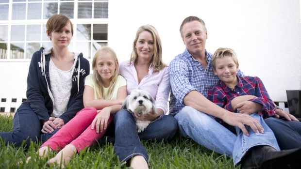 Time is precious: Maree Adshead and Mats Dahlstedt with their children Sophia and Mattias, au pair Beatrice Johannson ...