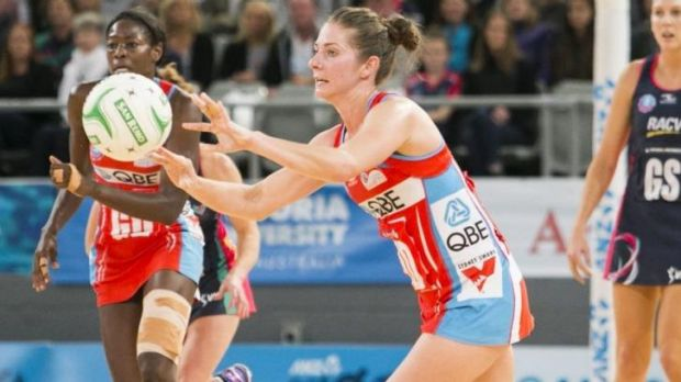 Impressive record: NSW Swifts' mid-courter Abbey McCulloch.