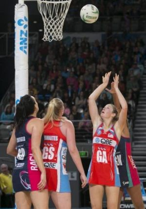 Tall order: Swifts sharp-shooter Susan Pratley.