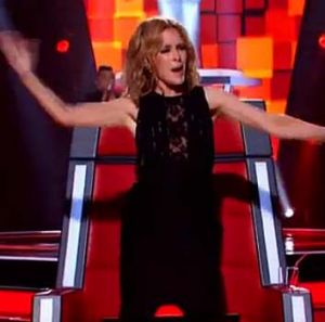 Kylie Minogue dances during C Major's performance of <i>Crazy in Love</i>.