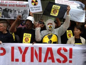 Lynas' rare-earths processing plant in Malaysia has been beset by protests.