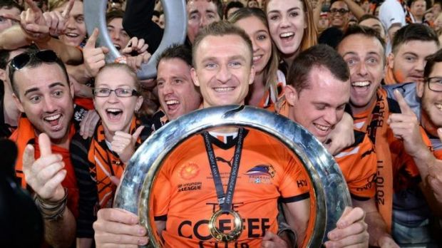 Brisbane Roar's Besart Berisha will line up for Melbourne Victory next season.