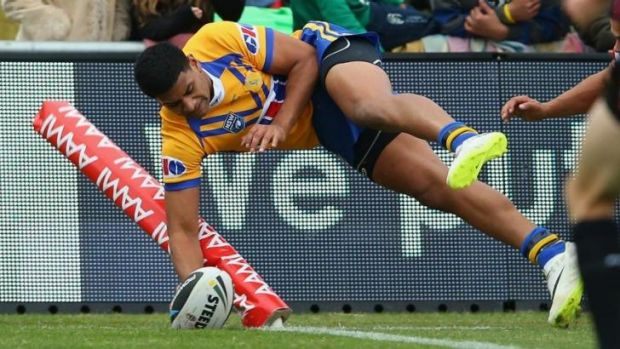 Flying winger: Daniel Tupou scores a try for City on Sunday.