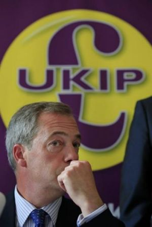 Front runner: UKIP leader Nigel Farage.