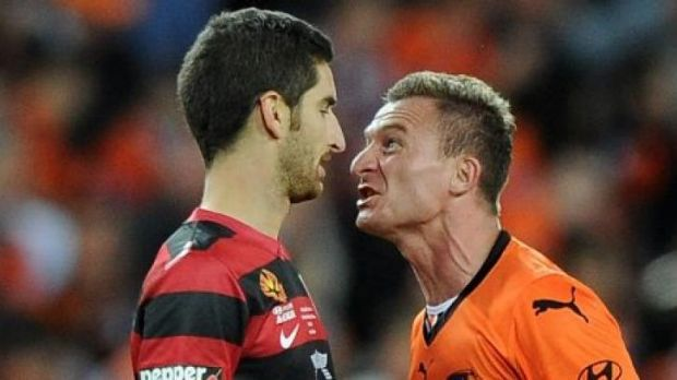 Fire and ice: Wanderers midfielder Iacopo La Rocca was a thorn in the side for Brisbane, especially the combustible ...