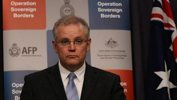 Hard line ... Immigration Minister Scott Morrison can expect questions about whether the Australian navy loaded three ...