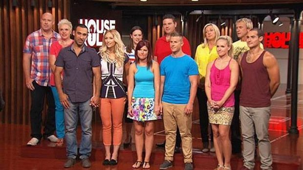 <i>House Rules</i> teams: Carole and Russell (far right, back) are the first to succeed, according to Candy and Ryan ...
