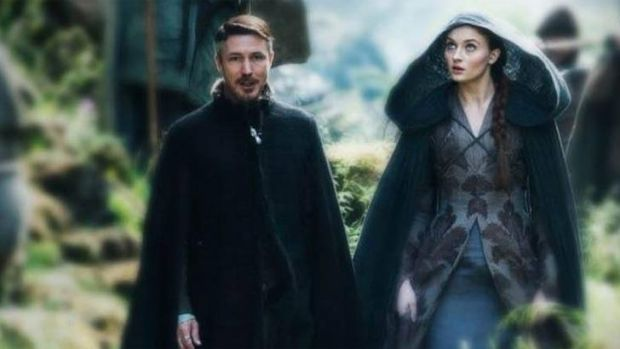 Littlefinger and Sansa on the latest episode of <i>Game of Thrones</i>.