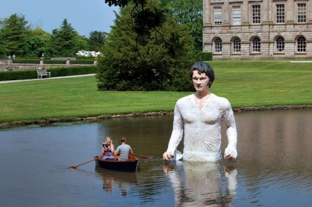 The Age Mr Darcy Sculpture. SUPPLIED 6/5/2014