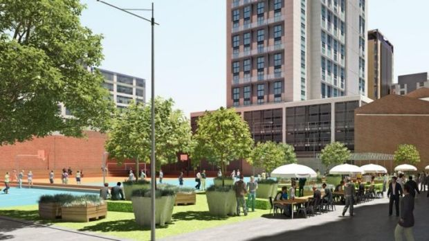 An artist's impression of the A'Beckett Street site.