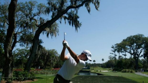 'I don't want 2013 to be a dream year and it all to go downhill from there': Adam Scott swings during a practice round ...