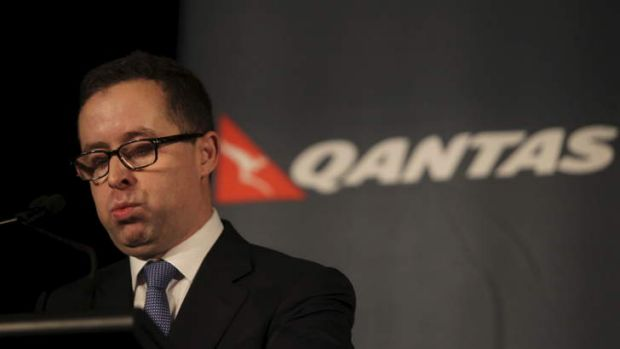 Alan Joyce: chasing a 10 per cent reduction in costs.