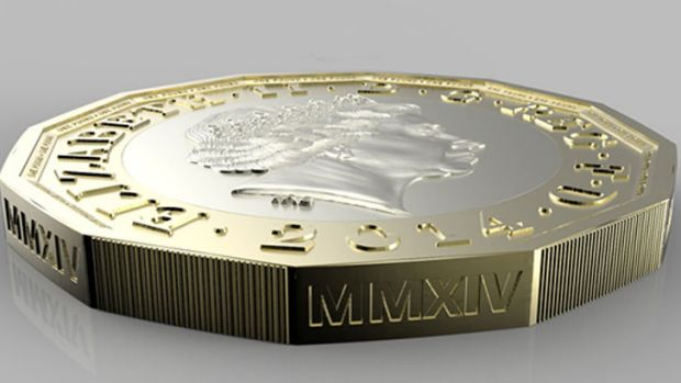 Sterling idea: The Royal Mint's new 12-sided pound coin.