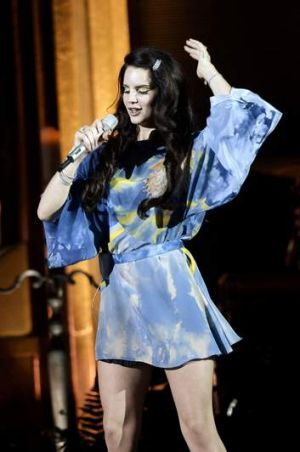 """I ended up following my gut instinct and that's led me to where I am"": Lana Del Rey performing in Rome last year."