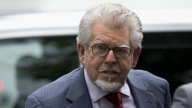 Veteran Australian-British entertainer Rolf Harris, who is accused of 12 counts of indecent assault, arrives at ...