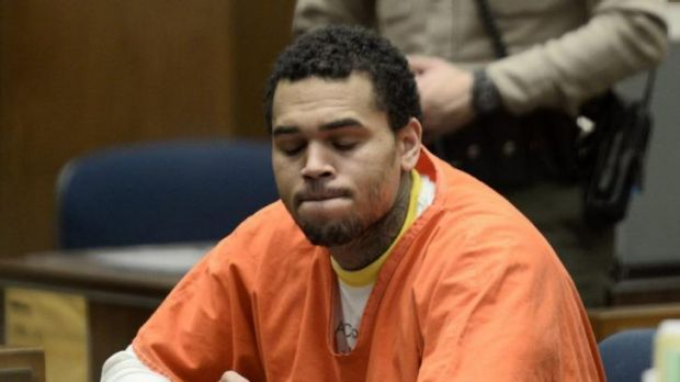 Singer Chris Brown: has already spent eight months in prison.