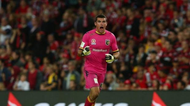 Mat Ryan during his time with the Central Coast Mariners in the A-League.