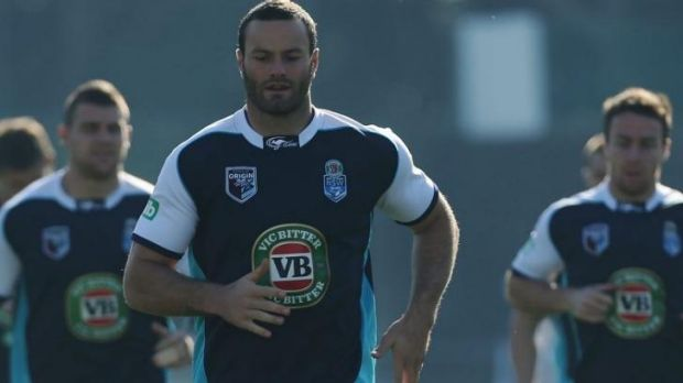 Blues in crisis: Boyd Cordner (pictured) was with Mitchell Pearce at the Clovelly Hotel.